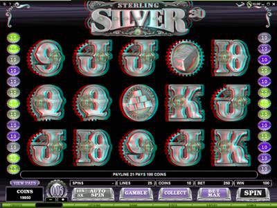 Play Sterling Silver Slot at Platinum Play
